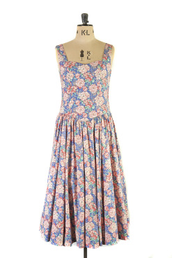 A spirited vintage Laura Ashley floral summer gown.