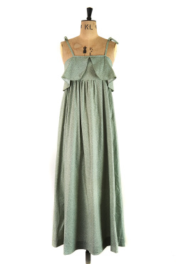 Green Dress covered in flowers by Laura Ashley, Made in Wales