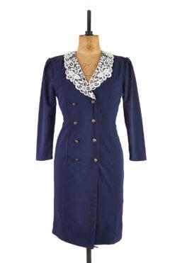 Charlotte Halton Vintage Sailor Dress, Double Breasted