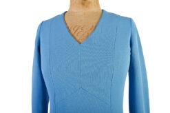 Elegant Blue Day Dress c.1970