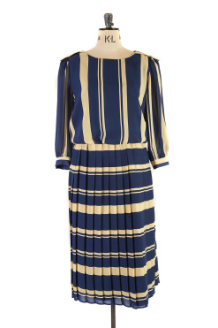 Nautical Flapper Dress by Gina Bacconi, Size 14