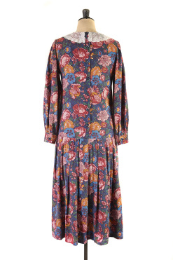 Lace Peter Pan Collar Dress by Laura Ashley