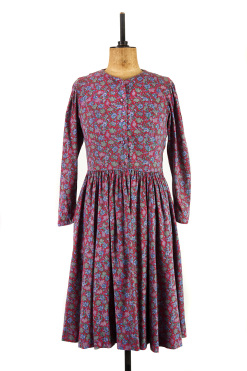 Red floral vintage Laura Ashley dress.