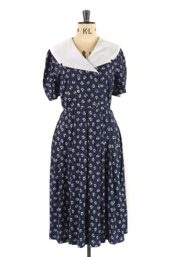 Navy and White, Vintage Cotton Sailor Dress