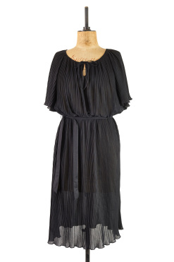Jet Black Batwing Dress
