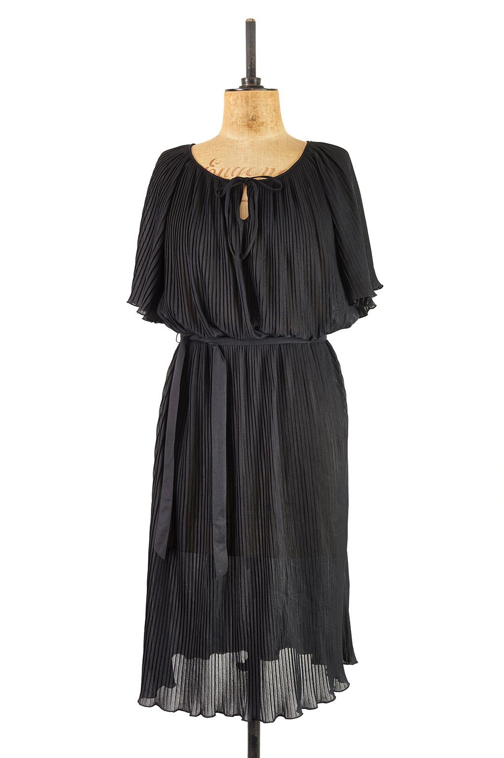 Jet Black Batwing Dress