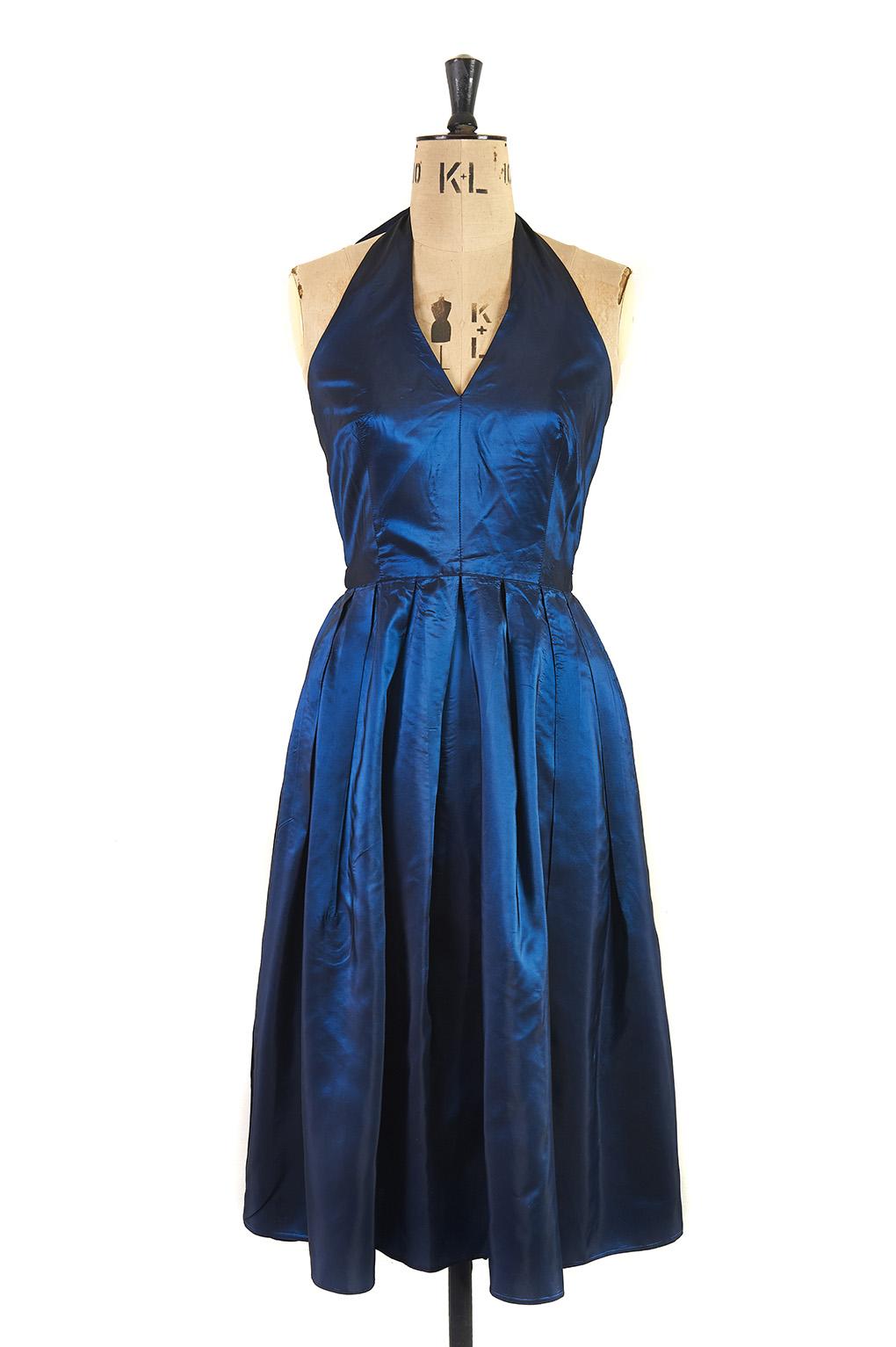 Catching Midnight Halter Dress c.1970