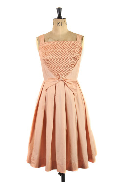 Peach fizz 1950s tea dress by Penthouse