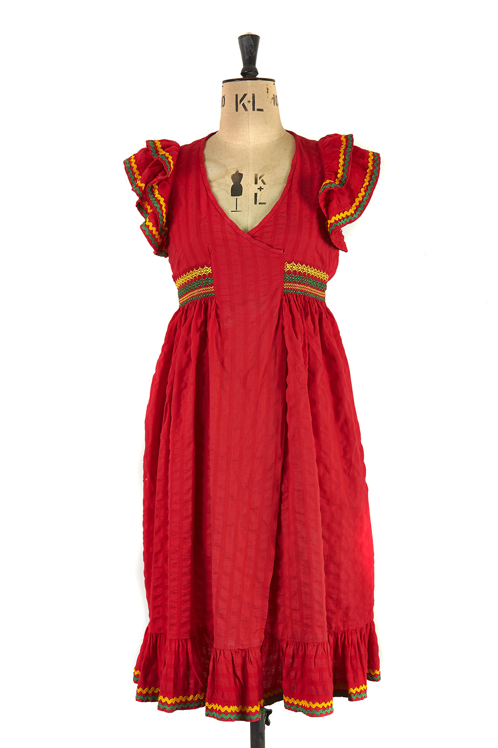 Red Ruffle Dress By Mary Quant Size 8 Margot Amp Hesse