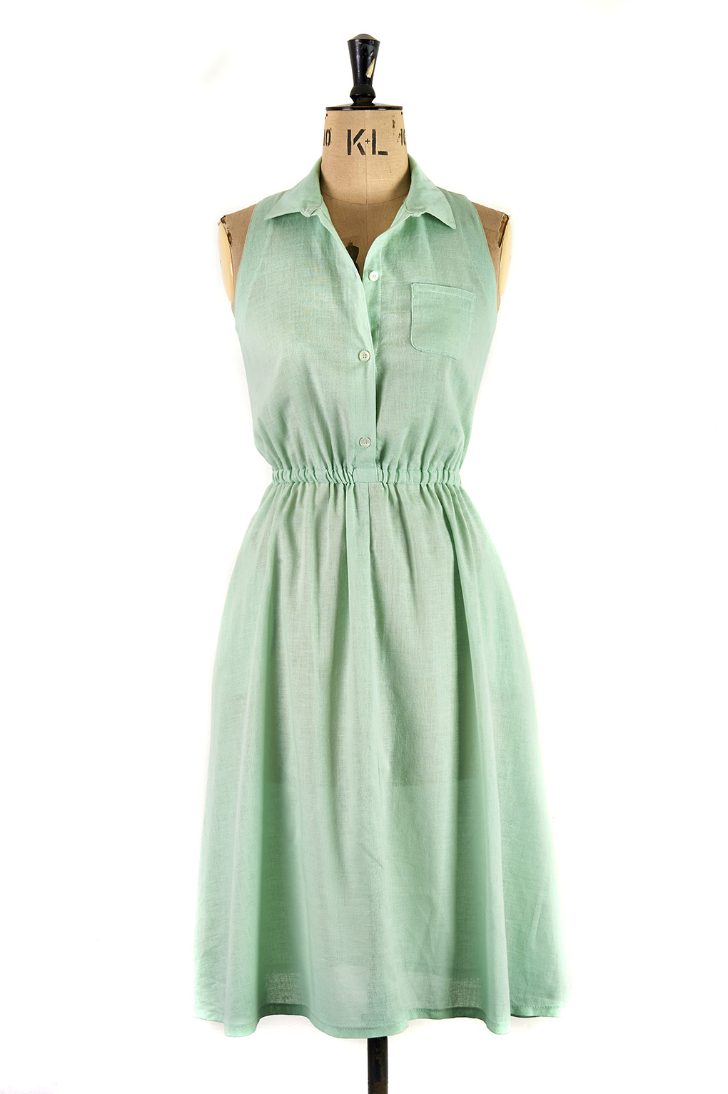 Elegant Green Day Dress