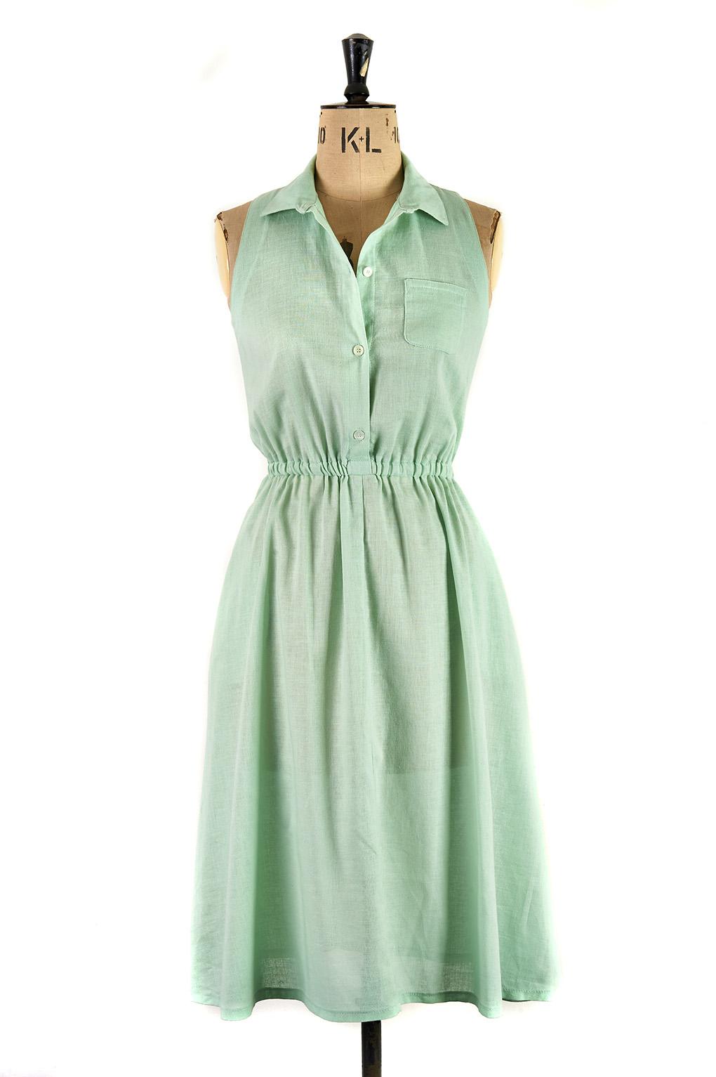 Elegant Green Day Dress