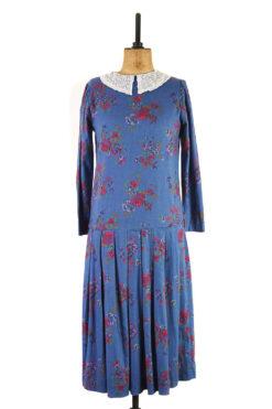Blue Edwardian Style Laura Ashley Dress