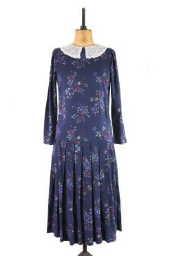 Blue Edwardian Style Laura Ashley Dress
