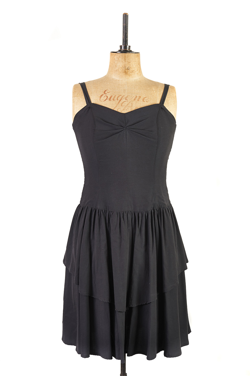 Black Cocktail Dress c.1980s - Size 14