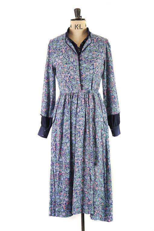 Liberty Print Peasant Dress by Origin