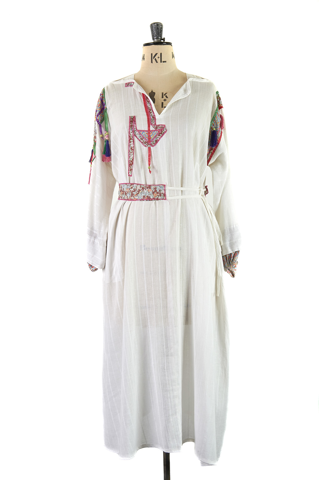 White Kaftan Dress by Jeff Banks for Rembrandt