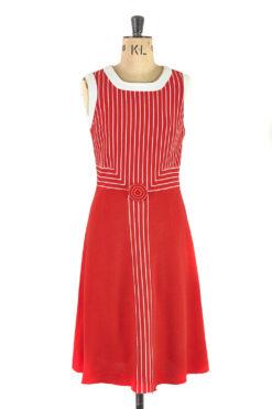 Red Mod Dress by Louis Feraud Size 12