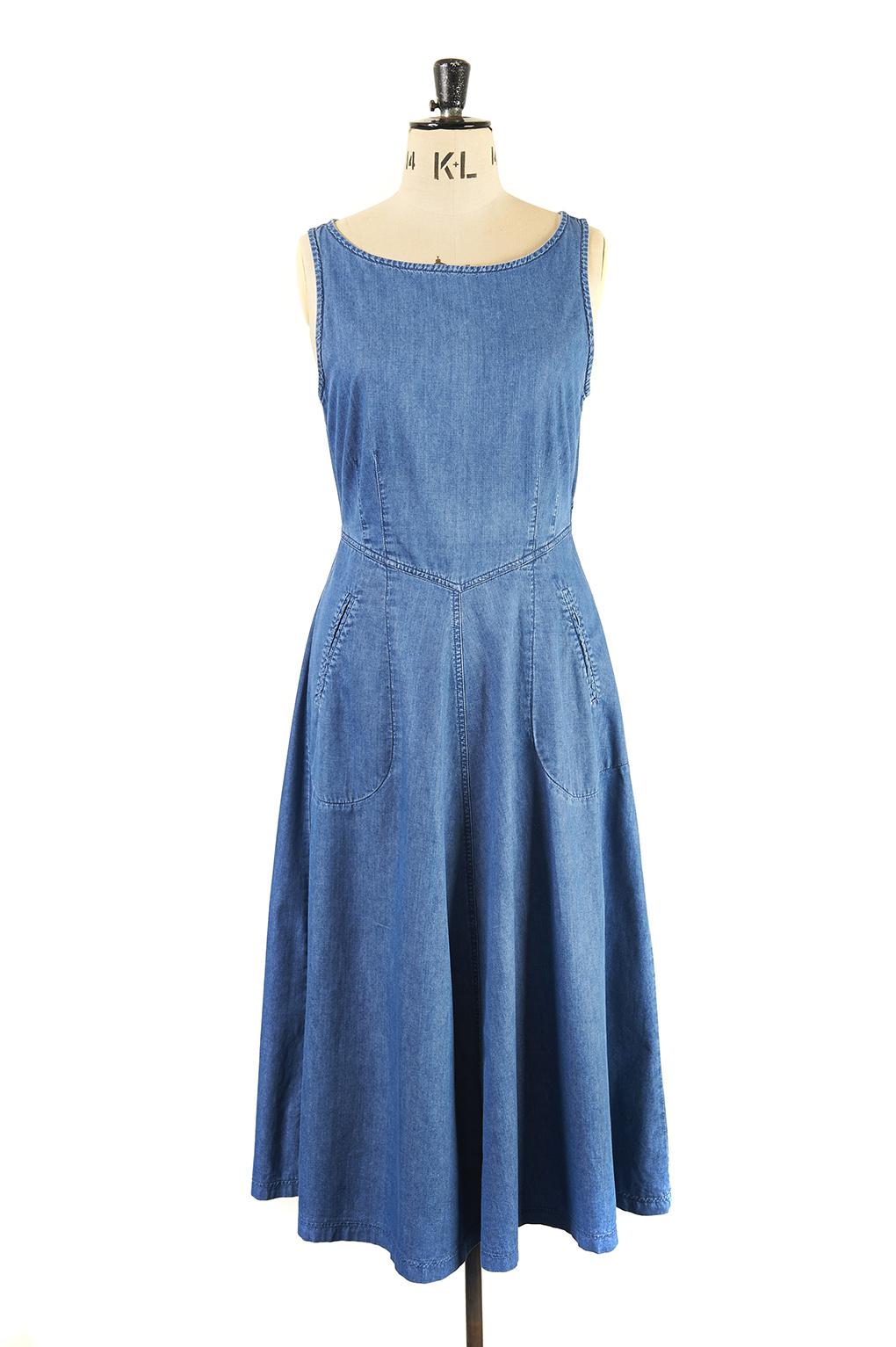 vintage Laura Ashley Denim Day Dress