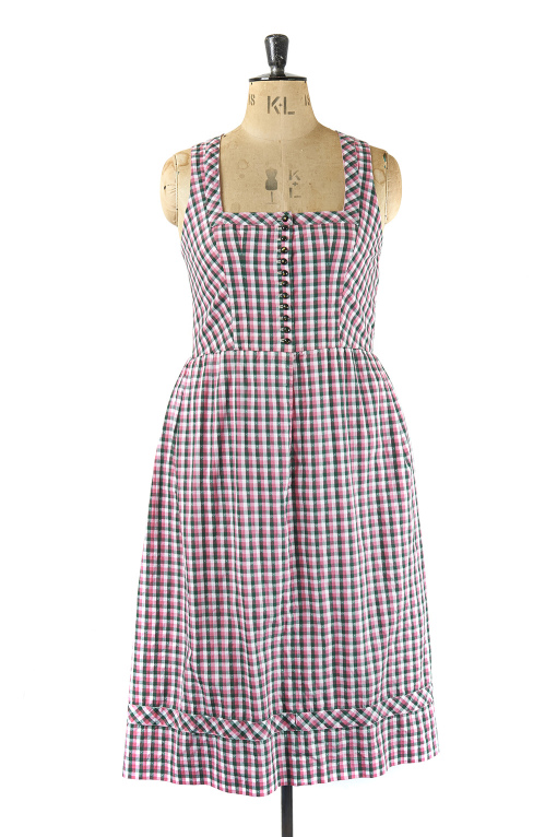 Size 16 Pink Check Dress Vintage, Margot & Hesse