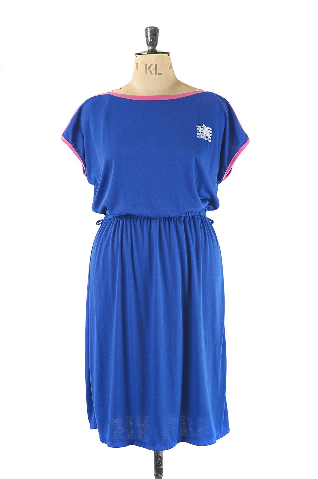 Plus size vintage fashion Sumer Jersey Dress - Size 18