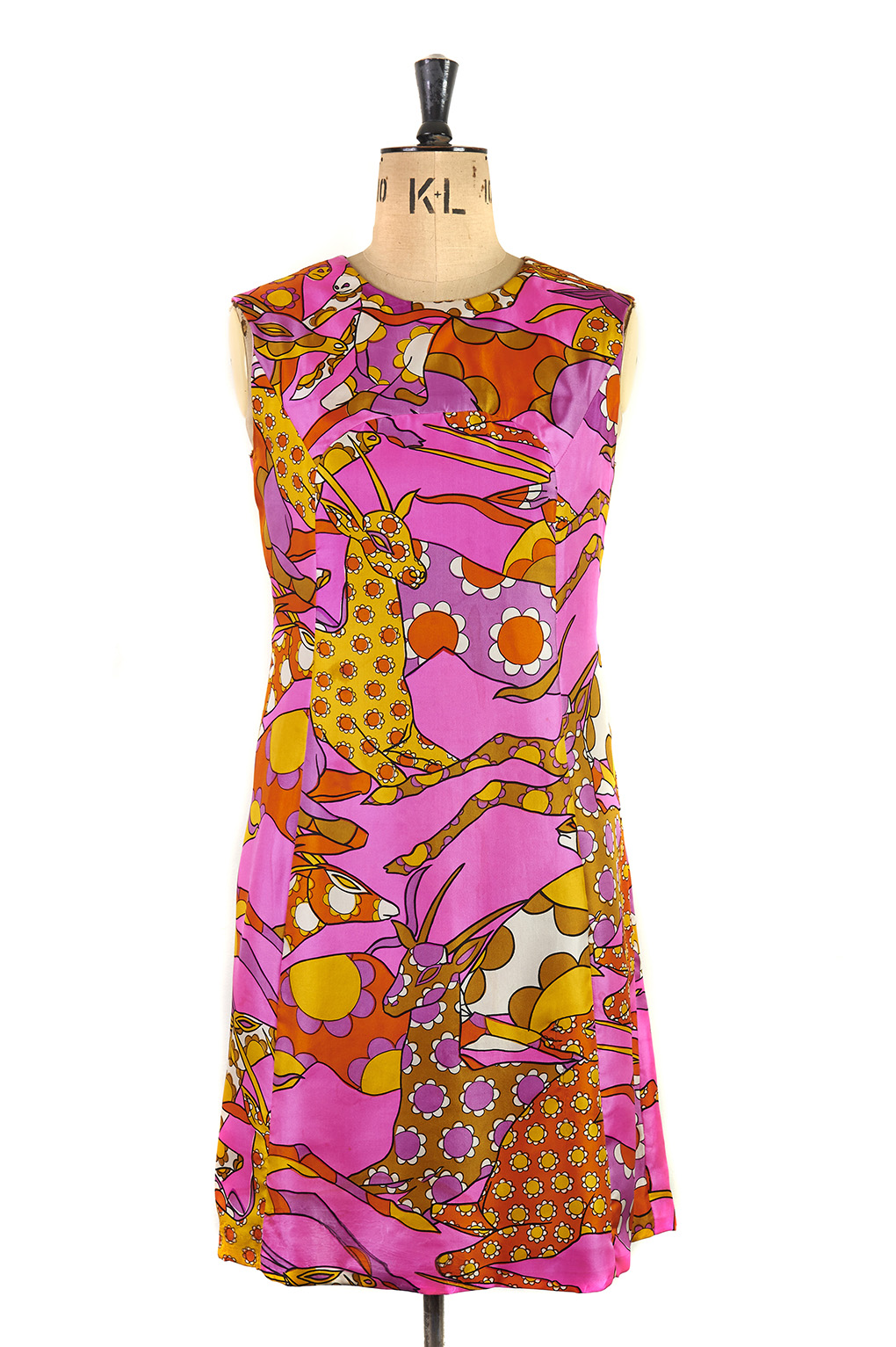 Psychedelic Dress by Saks Fifth Avenue c.1960